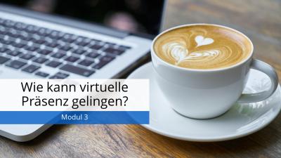 In diesem Modul erfahren Sie, was ganz grundlegend vorhanden sein muss, damit Ihre Studierenden in der virtuellen Präsenzlehre mitarbeiten und etwas lernen.